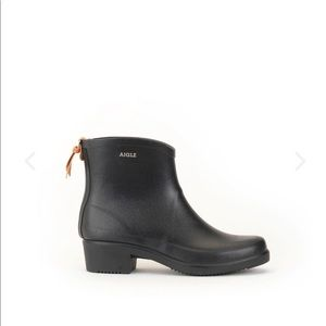 Aigle Miss Juliette Rubber Ankle Boots  Black
